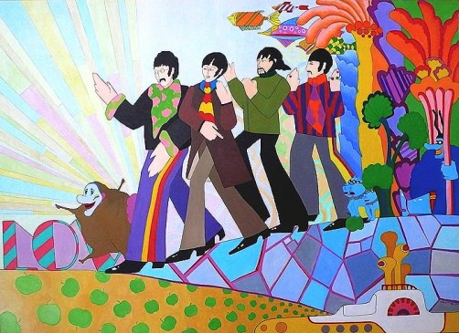 Psychedelic patterns in masterpiece-film yellow submarine