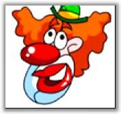 Попади в клоуна
